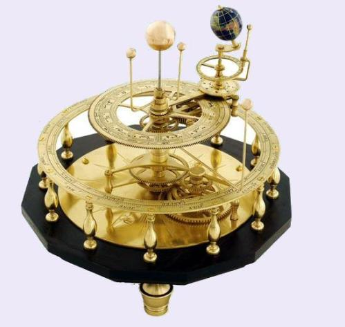 An orrery is a great mechanical contraption a cosmic clockwork of