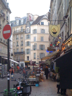 Rue Dauphine, foot of Pont Neuf bridge, Paris