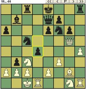 Black drops a pawn