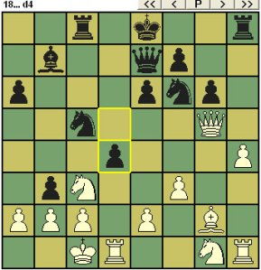 Black drops a pawn