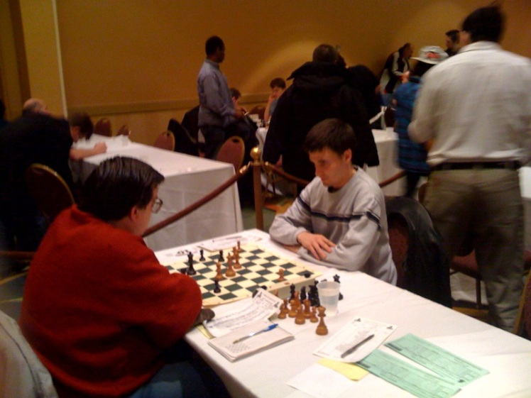Denys grinds out 2Bs versus Jim West's rook - round 6