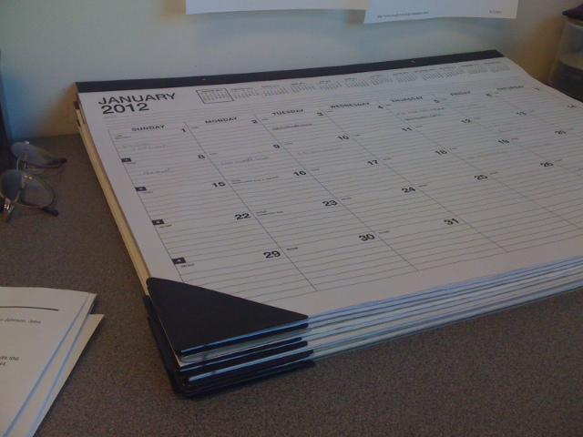 Mr. Proofrock's Desk Calendars