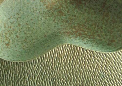 Doug Law, green bowl box, pottery