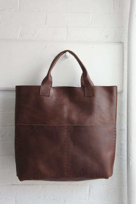 Leather tote bag by Stitch and Tickle